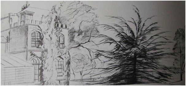 Lear's sketch of Farringford