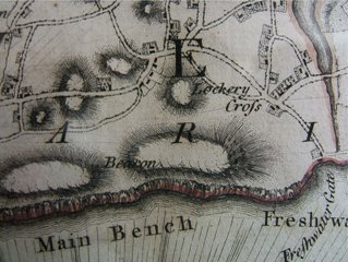Map of Tennyson Down 1769