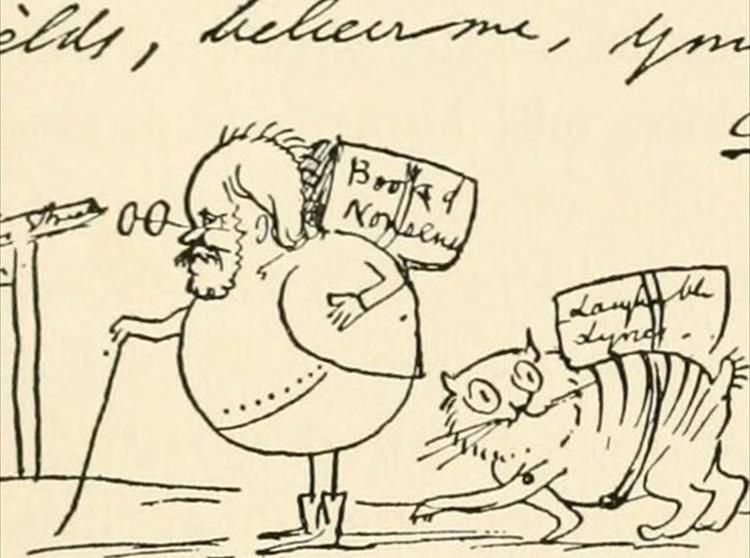 Tennyson and Edward Lear were both good friends and frequently exchanged letters and verse, with Lear even illustrating an edition of Tennyson's poetry.
