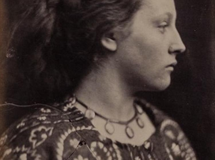 The iconic portrait of Sappho by Julia Margaret Cameron eerily reflects the famous portrait by George Frederick Watts of Tennyson, a copy of which hangs in Farringford's Ante-Room