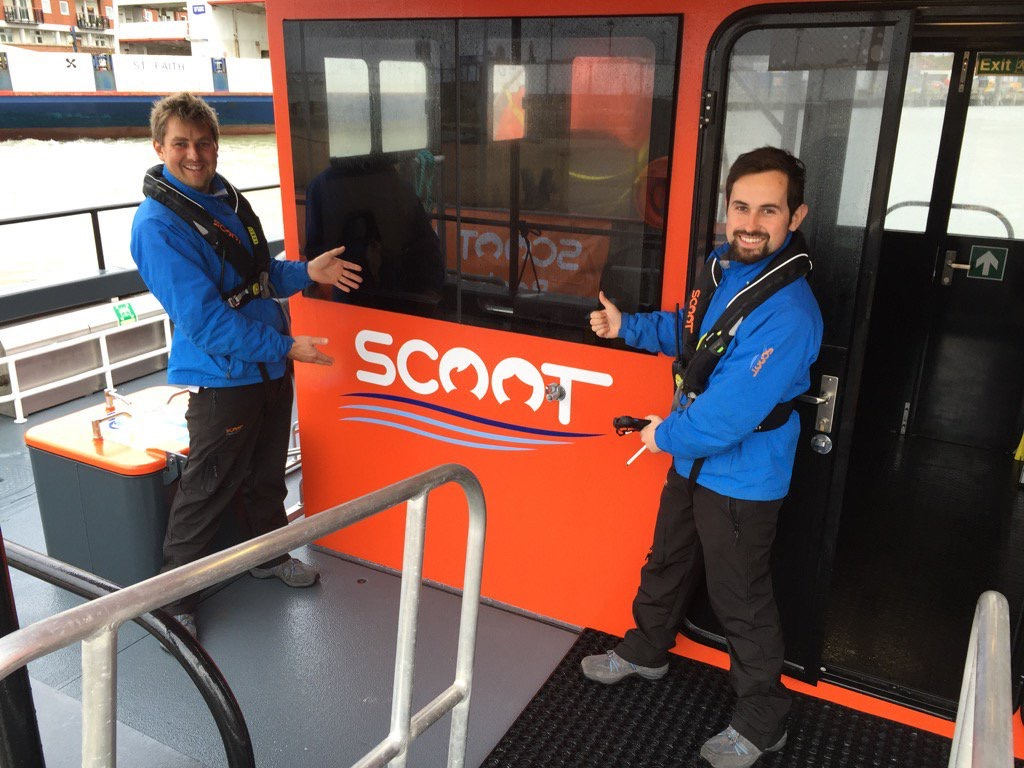 Scoot Ferries has launched a new foot passenger service from Lymington Quay to Yarmout