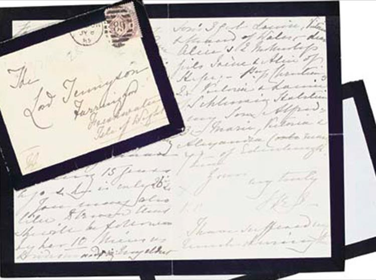 While reading Tennyson's letters I was struck by the number he had written to Queen Victoria. I had heard that