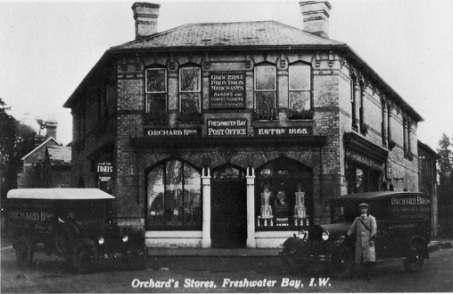 Orchard brothers family grocers Freshwater, Isle of Wight