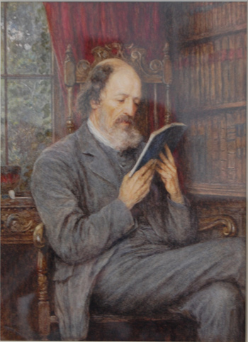 Tennyson Reading in his Library at Farringford