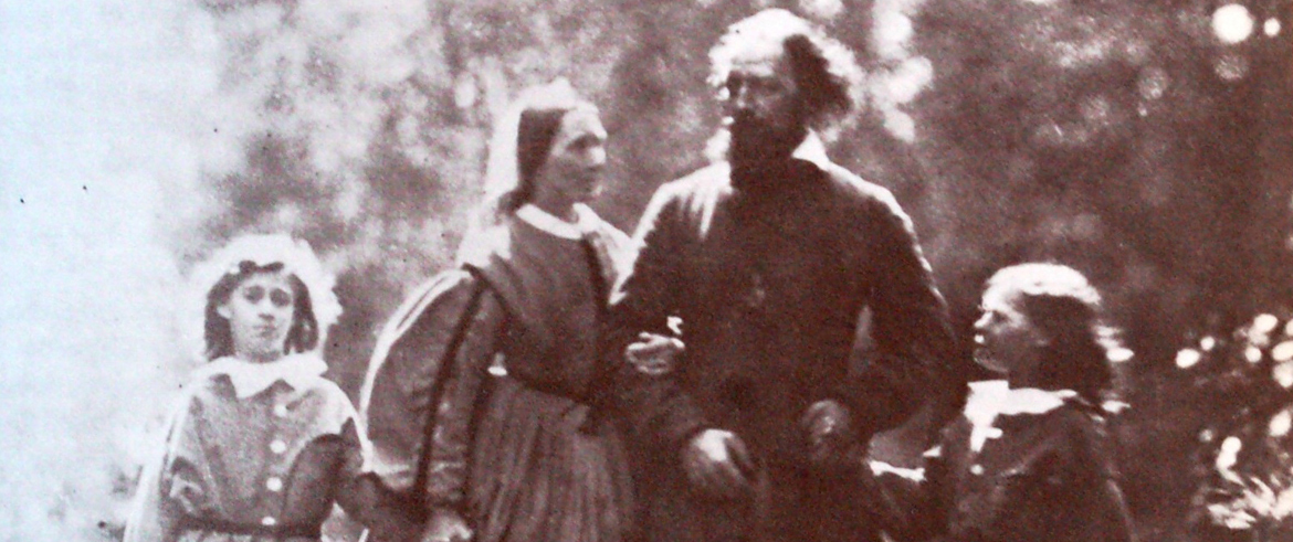 tennyson family in the garden