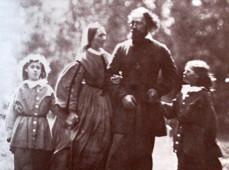 Tennyson with his family